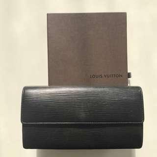 Louis Vuitton Black Epi Wallet