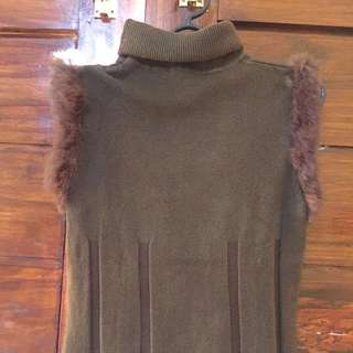 (REPRICE) Turtle Neck Faux Fur