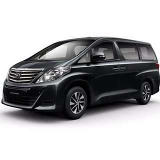 Toyota Alphard 6 Seater Limo Hourly / Private Booking / Events / Tours / Airport Transfer