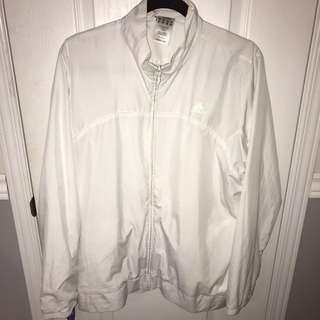 ADIDAS ALL WHITE WIND BREAKER - SIZE XL