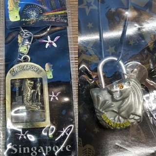 [Brand New] Keychain-Padlock Collectibles / Souvenirs (Singapore)