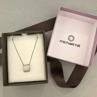 Michael Hill sterling silver necklace with Cubic Zirconias