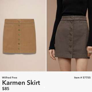 Aritzia Wilfred Karmen Skirt