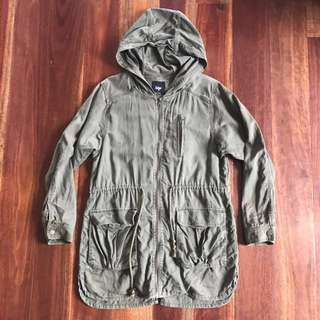 Sportsgirl green long trench coat