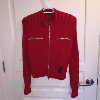 DSquared2 Red Zip Up Jacket