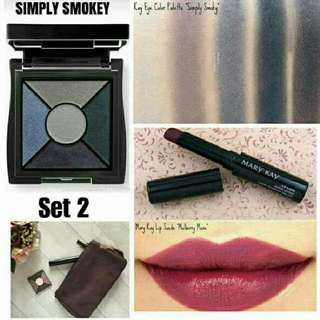 set 2 marykay limited edition simply smokey