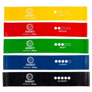 "Resistance Loop Bands 5 sets Brand New 12""x 2"" bands"