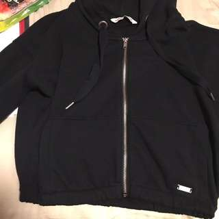 Abercrombie and Fitch crop zip up hoodie