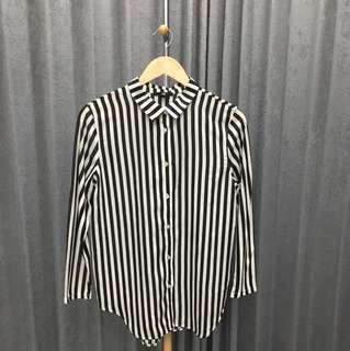 H&M stripe blouse xs