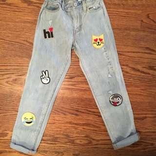 Girls Gal Emoji Jeans
