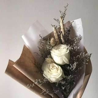 Ivory Roses Flower Bouquet