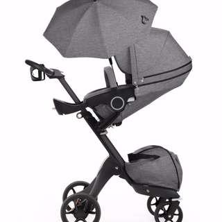 Stokke XPLORY Stroller - Black Melange