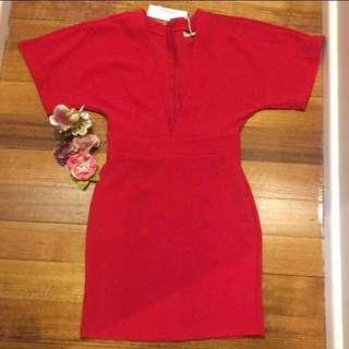 🌺Brand new Kimono red dress size XS or size6,8