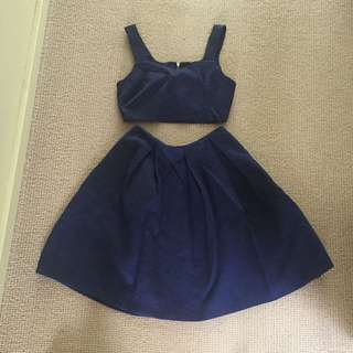Navy Two-Piece Set