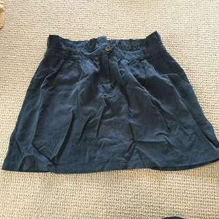 Suade navy Mini Skirt