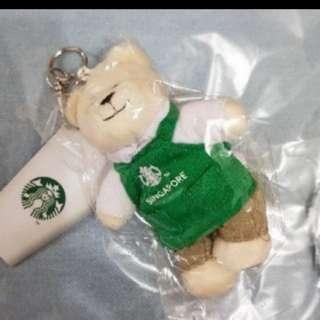 Starbucks green apron mini bear