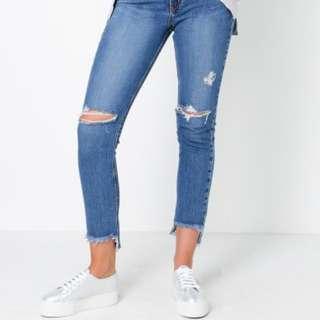 Nobody True High Rise Slim Denim Jeans Size 26