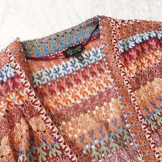 Colourful lacework cardigan