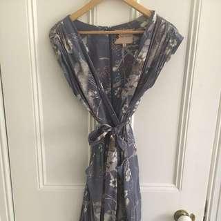 Flour Wood silk floral dress size 1