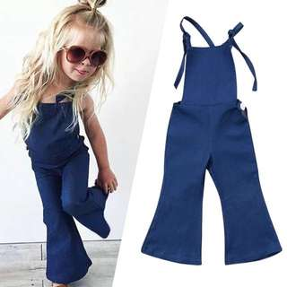 Girls Bell Bottom Jumpsuit