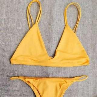 Bikini swimwear yellow summer