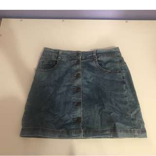 Dotti denim mini skirt