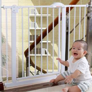 Fit 75cm-124cm Steel Premium Safety Gate Safe Baby Fence Fecing for Children Kids Pet Metal gate Two Way Swing