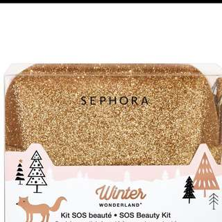 Makeup Pouch/bag in sparkling gold SALE!