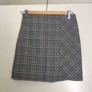 Check A-Line Mini Skirt