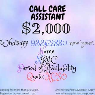CUSTOMER CARE NEEDED!! UP TO $2000/MONTH APPLY NOW|WHATSAPP FOR FAST RESPONSE