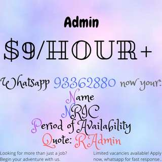 ADMIN NEEDED FOR 6 MONTHS!!! | $9/HOUR|WHATSAPP NOW FOR FAST RESPONSE