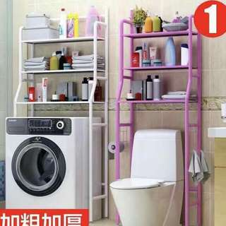 Toilet steel shelves organizer rack