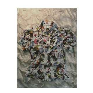 Diane  Von Furstenberg floral silk blouse **SZ small **DVF