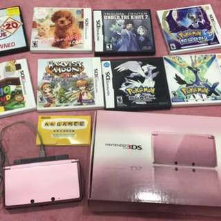 [FAST DEAL] 3DS pearl pink Set