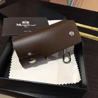 全新義大利品牌Mengoli lado匙包全齊包装