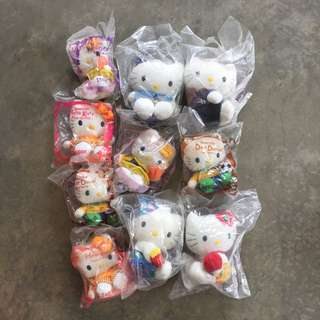HELLO KITTY Stuff Toys ($5 each or $30 for all)