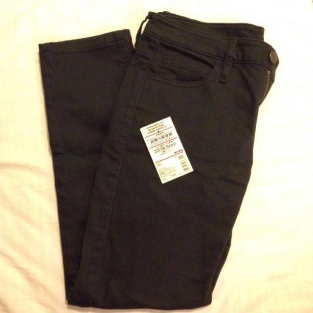 11/1價格已調降-MUJI無印良品有機棉混超彈力緊身褲24黑色