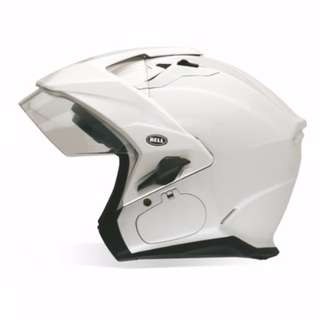 Bell Solid Sena Mag-9 Mag 9 SIZE SMALL ONLY Harley Cruiser Motorcycle Helmet - Pearl White Bell Mag-9 Mag 9 Adult Open face Street Motorcycle Motorbike Helmet (Solid Pearl White, Small) (D.O.T.-Certified)