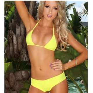 Yellow Brazilian Bikini size 12