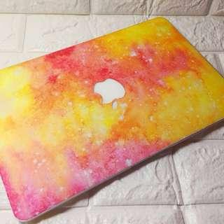 "MacBook Air 11"" stickers 11吋橙紅色幻彩圖案外觀貼  一套包四張彩貼(面貼,底貼,電腦屏幕貼,鍵盤貼) 透明屏幕貼,鍵盤透明防塵墊,清潔去塵抺布"