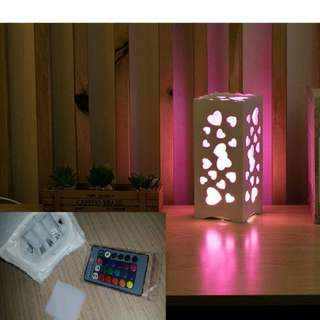 PVC Wood Light Lamp With Remote Controller