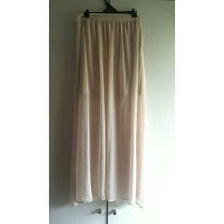 Cotton On cream sheer maxi skirt