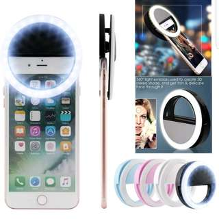 Photography ring light selfie light LED flash clip