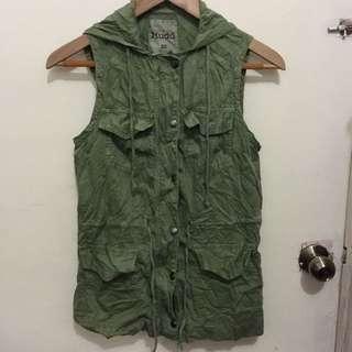 Army Green Mudd Parka Vest