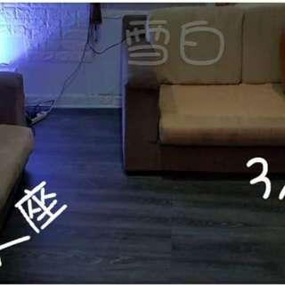 2+3沙發床陀色保存良好