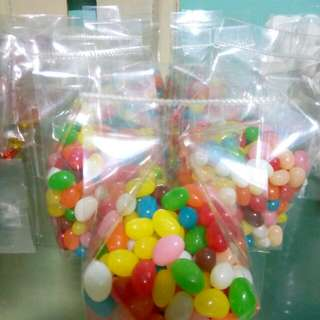 jelly beans and gummy worms