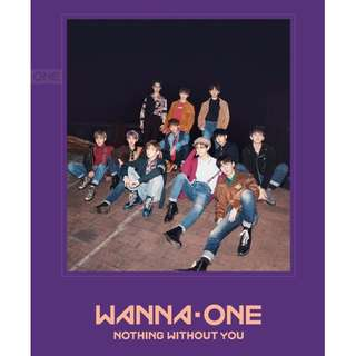 【4th BOX PREORDER】Wanna One Mini Album Vol. 1 (Repackage) 1-1=0 (Nothing Without You)
