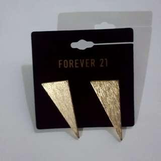 F21 Gold Matte Earrings
