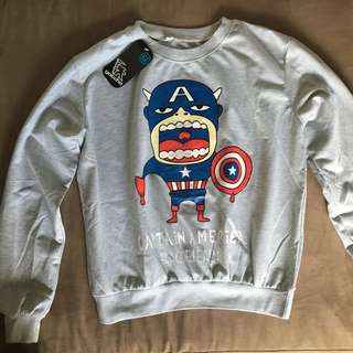 📌REPRICED📌Captain america comic sweater pullover