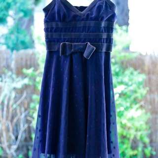 Myer Pilgrim blue dress 6 8